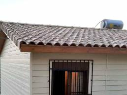 opción de cubierta mixta para casas de madera